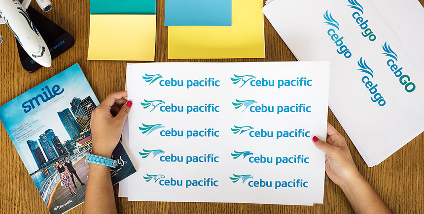 Working on the new logo for Cebu Pacific