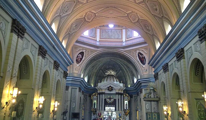 The interiors of the Basilica of Saint Martin of Tours (Photo: Joy Imperial)