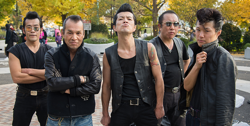 Members of the Tokyo Rockabilly Club