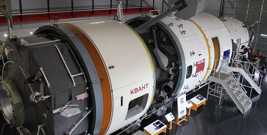 You can climb into the Soviet-Era Mir space station in Tomakomai