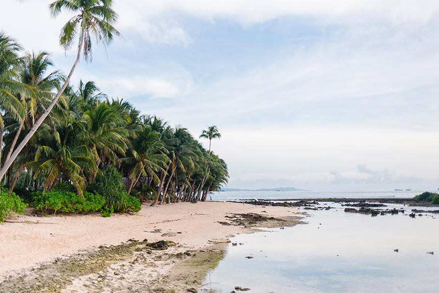 Help keep our beaches pristine. The shore near the Jacking Horse surf break in Siargao. Photo by Marija Rathe