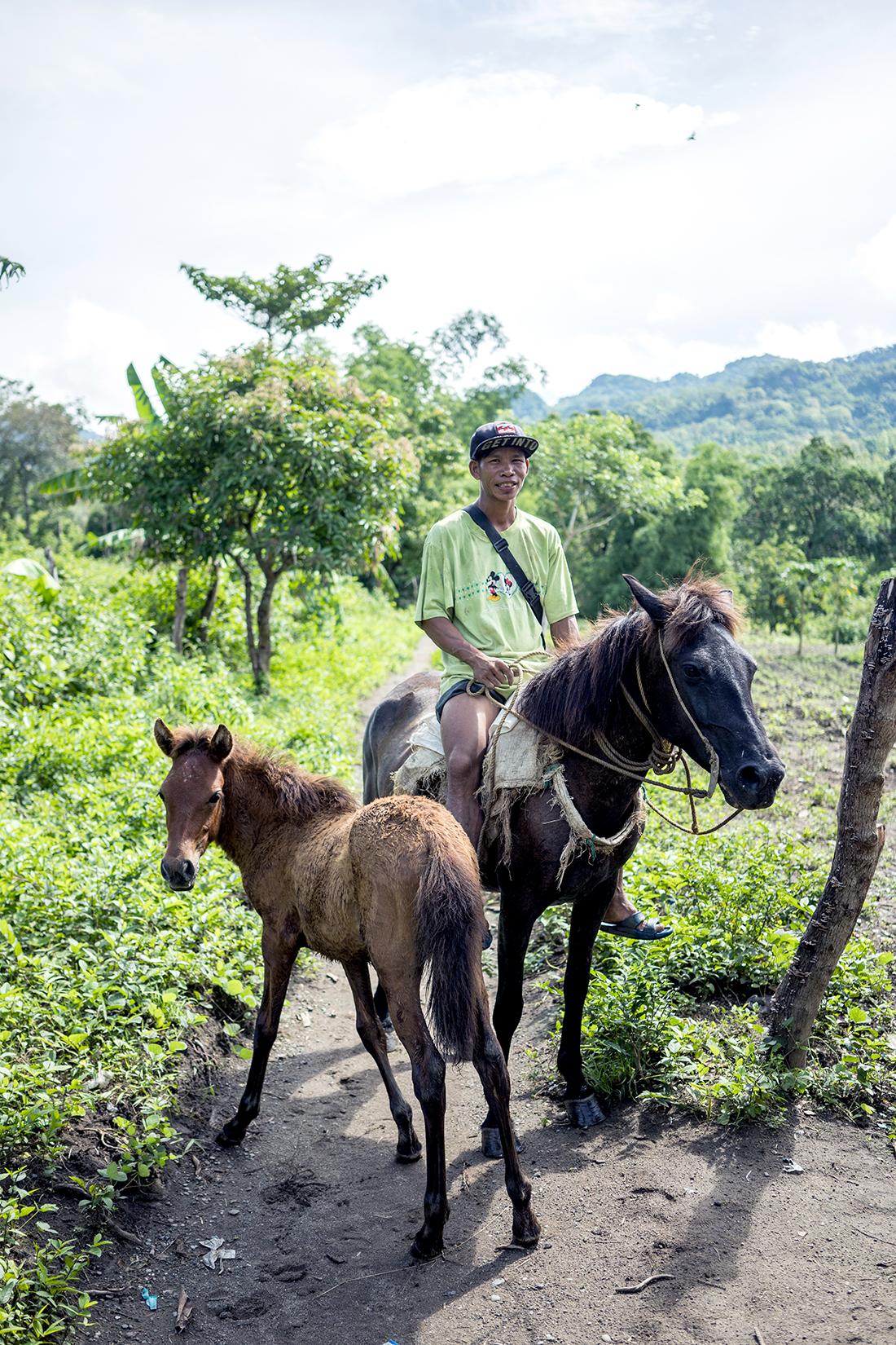 En route to Sitio Salidang on horseback