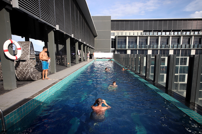 Bai Hotel rooftop swimming pool