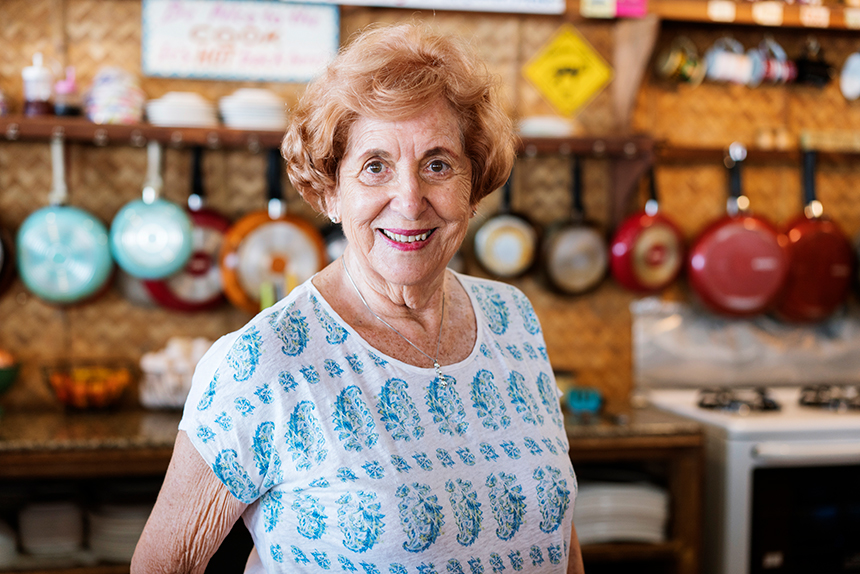 Lee Rosaia, the smiley proprietor of Real Coffee & Tea Cafe